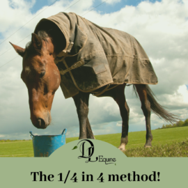 DL Equine 1/4 in 4 Method Introducing a new feed